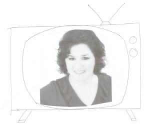 TV a white