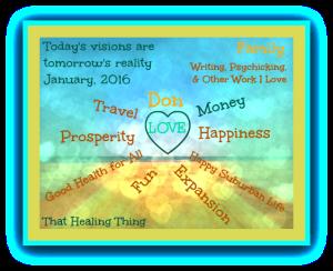 Vision Board January 2016